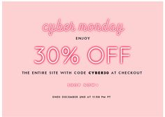 cyber monday: enjoy 30% off the entire site with code CYBER30 at checkout. SHOP NOW.