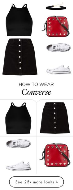 """#849"" by infinito01 on Polyvore featuring Converse, Miss Selfridge, Jimmy Choo, Simons and Boohoo"