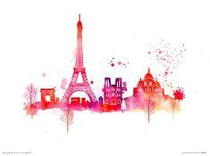 Paris Skyline - Summer Thornton