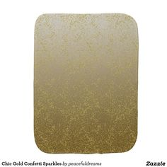 Chic Gold Confetti Sparkles Burp Cloth