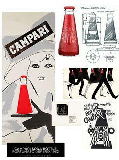 meetyourMOOD: meet CAMPARI SODA: l'aperitivo italiano - MOODboard by meetyourMOOD - Campari Soda bottle - Fortunato Depero