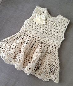 FINISHED  Baby Dress Crochet Baby dress with by PatternsDesigner, $72.00