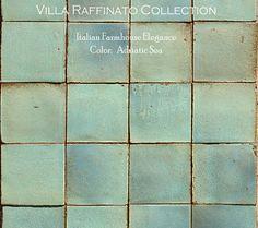Italian terra cotta wall tile. So pretty.