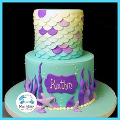 Mermaid Birthday Cake – Blue Sheep Bake Shop