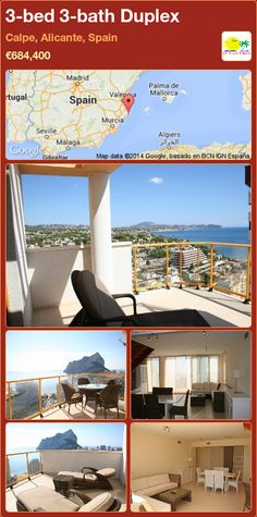 3-bed 3-bath Duplex for Sale in Calpe, Alicante, Spain ►€684,400