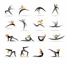 the gymnastics action demonstrates figure 01 vector Gymnastics Logo, Foto Sport, Icon Design, Logo Design, Stick Figure Drawing, Doodle Icon, Map Vector, Design Graphique, Stick Figures