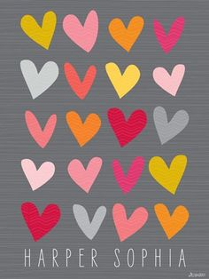 Hearts Canvas Wall Art