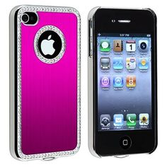 Snap-on Case Compatible with Apple? iPhone?4 / 4S , Bling Luxury Hot Pink