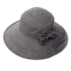 17f1ab460b7 Siggi Womens Summer Bucket Boonie UPF 50+ Wide Brim Sun Hat Cord Cap Beach  Accessories