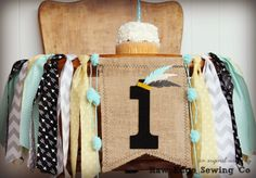 WILD ONE Birthday Banner HighChair High Chair by RawEdgeSewingCo