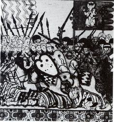 Manuscrit des « Cantigas de Santa Maria » du Roi Alphonse X Le Sage (mort en 1284). XIIIe siècle Des hommes, des chevaux, des équitations Petite histoire des équitations pour aider à comprendre l'Équitation (1989) Denis Bogros (1927-2005)