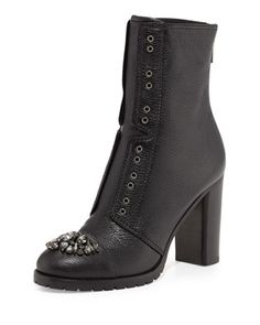 Datchet Crystal-Toe Combat Boot, Black by Jimmy Choo at Neiman Marcus.