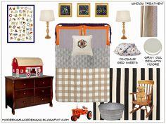 Boy Bedroom E-Design Board via Modern Grace Designs moderngracedesigns.blogspot.com