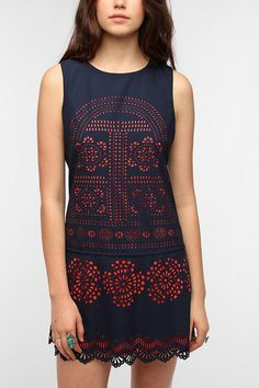 Coincidence & Chance Laser Cut Shift Dress.  Women's fashion and style.  cocktail dress.  party clothes.