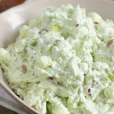 WATERGATE SALAD-The ladies used to bring this to the church potlucks when i was young. STILL LOVE IT!