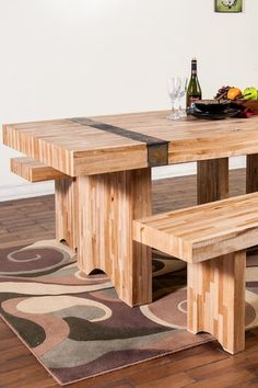 Green Home Dining Table with Slate