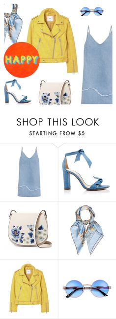 """""""Happy"""" by freddarling ❤ liked on Polyvore featuring M.i.h Jeans, Alexandre Birman, French Connection, Hermès, MANGO and Lisa Perry"""