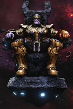 Thanos on Throne by 3D artist MARS [@Artstation] (Marvel comics)