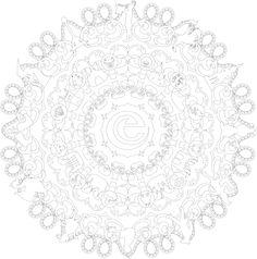 Kleuren voor volwassenen. Schitterende mandala kleurplaat van de Efteling. Adult Coloring, Coloring Pages, Learn To Draw, Diy And Crafts, Outdoor Blanket, Drawings, Fairytail, Inspiration, Bujo