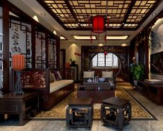 Chinese Interior Design chinese classical furniture | chinese classical wall furniture