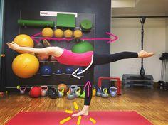 #yoga how to do warrior 3 #virabhadrasana 3