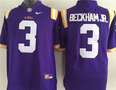 LSU Tigers #3 Odell Beckham Jr Purple College Football Limited Jersey