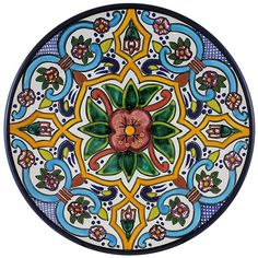 Tomas Huerta TalaveraPlate - Pattern 64 ♥️♣️♣️Talavera Mexican Pottery : More At FOSTERGINGER @ Pinterest ♣️
