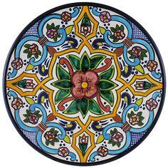 Tomas Huerta TalaveraPlate - Pattern 64 ♥️♣️♣️Talavera Mexican Pottery : More At FOSTERGINGER @ Pinterest ♣️