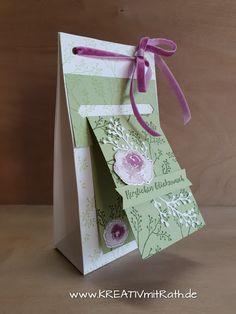 KREATIV mit Rat(h): Blog Hop das zeige ich dir im August Stampin Up Anleitung, Craft Box, Craft Ideas, Stamping Up, Box Packaging, Homemade Cards, Bag Making, Frost, Christmas Cards