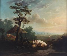 Joseph Lister Antique Large Huge Original Oil Painting Cattle Cows Signed Dated Now Oils, Worlds Largest, Joseph, Painting, Contemporary, The Originals, Antiques, Ebay, Art