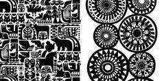 Sanna Annukka is half Finnish, half English illustrator and print maker. These prints she made for Marimekko. Textiles, Textile Patterns, Print Patterns, Pattern Designs, Textile Design, Marimekko Fabric, Mudras, Heart Illustration, Design Graphique