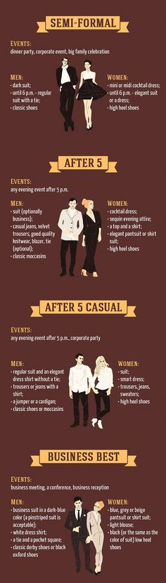 The best guide to basic dress code rules you've ever seen