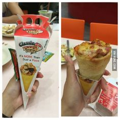 Pizza Cone. This is heavenly.