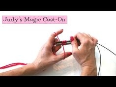 ************************* Knitting Help - Judy's Magic Cast-On for knitting socks from the toe up. Magic Loop Knitting, Cast On Knitting, Knitting Help, Knitting Videos, Knitting Socks, Knitting Projects, Knitting Tutorials, Poncho Knitting Patterns, Knitting Stitches