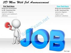 1113 3D Man with Job Announcement Ppt Graphics Icons Powerpoint #Powerpoint #Templates #Infographics