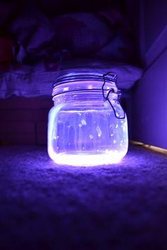 Glow Stick Lanterns - Mrs Happy Homemaker