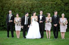 Silly bridal party shot, Mitchelton winery Victoria. www.lanicarter.com