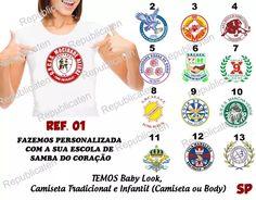 camiseta baby look carnaval escola de samba portela rj