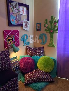 Ideas Kids Room Fun Ideas Reading Corners For 2019 – kids playroom ideas Book Corners, Reading Corners, Reading Corner Kids, Reading Areas, Children Reading, Reading Room, Daughters Room, Toy Rooms, Kids Rooms