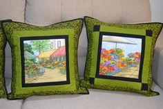 almofadas com quadro de flores 3