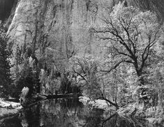 ansel adams images | Ansel Adams, Merced River, Cliffs of Cathedral Rocks, Autumn
