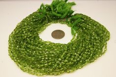 1strand - natural peridot faceted oval sized 4 by 6mm on Etsy, $15.00