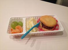 Gezond patatje hamburger