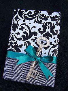 Two different kinds of wrapping paper or a present too big? Wrap up and then cover the seam with a pretty ribbon!