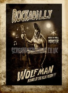 I have no idea where I'd place a Rockabilly Werewolf tattoo, but as soon as I saw this I knew that I needed one.