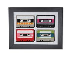 Retro Cassettes Cross Stitch Pattern Instant by tinymodernist