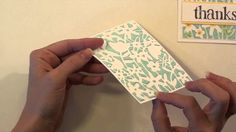 Taylor demonstrates how to use TE cutting plates and embossing paste to create your own beautiful stencil designs.