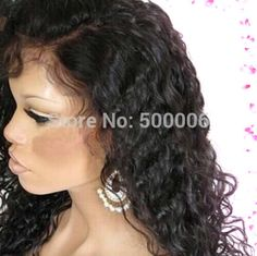 DHL Freeshipping Glueless Front Lace wigs/Full lace wigs Brazilian Virgin human hair with baby hair around for black women(China (Mainland))
