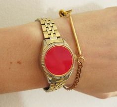 We love these color-blocked watch bracelets.