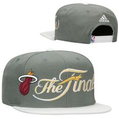 2014 THE NBA FINAL EAST Miami Heat Adidas Snapback Hats Gray White! Only   8.90 048665454e